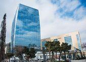 Baku - MARCH 1, 2014: Port Baku office building on March 1 in Azerbaijan, Baku. Port Baku is new development area in Baku
