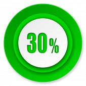 30 percent icon, sale sign