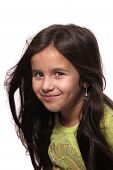 Seven Year Old Brunette Girl