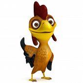 Chicken say hello