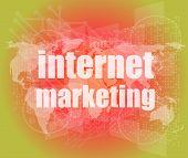 Internet Marketing - Digital Touch Screen Interface