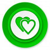 love icon, valentine sign, hearts symbol