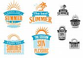 Summer vacation and travel designs