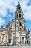 The Building Of The Cathedral In Dresden (germany)