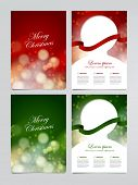 set of vector holiday flyer, Christmas greeting card templates