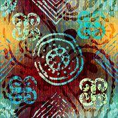 stock photo of rune  - Seamless background pattern - JPG