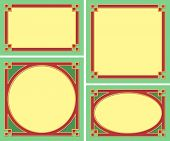 A Set of Decorative Borders, Frames - Vector EPS 8
