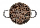 Saucepan Full Of Rusty Nails