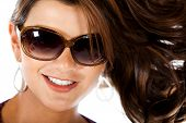 Fashion Woman Wearing Sunglasses