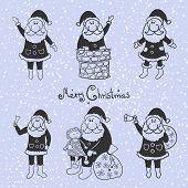 Doodle santa claus set