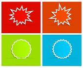 splash star burst background with banner design