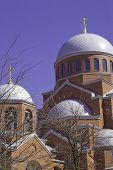stock photo of sankt-peterburg  - Sankt Peterburg, orthodoxy church. Spring 2010. Sunny day. - JPG