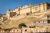 Palace of the Amber Fort near Jaipur, Rajasthan, India
