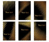 Business cards set with golden dots