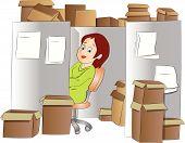 Office Clerk, Illustration
