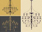 Set Of Three Chandelier Design Elements