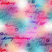 Original inscriptions Merry Christmas on blur background.
