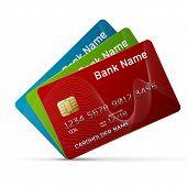 Illustration Of A Plastic Credit Card
