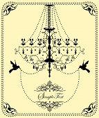 Vintage Wedding Invitation Card With Ornate Elegant Design