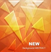Background with abstract 3D shapes, vector illustration.