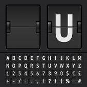 Vector scoreboard alphabet