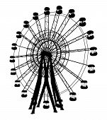 image of ferris-wheel  - Carnival Fairground Rotate Entertainment Carousel Illustration Vector - JPG