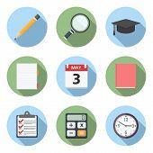 Flat Education Icons