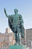 stock photo of tyranny  - Statue of Roman Emperor in Trajan - JPG