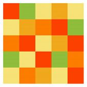 Colored tiles pattern