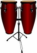 image of congas  - Set of conga or tumbadora drum instruments - JPG