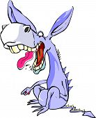 image of horses ass  - Funny Purple Donkey Laughing Like Crazy vector illustration - JPG