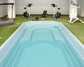 Jacuzzi Tub And Fitness Equipment. Interior