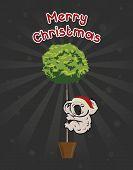 Christmas Koala Holdingthe Tree