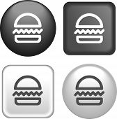 Hamburger Icon On Buttons Collection