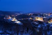 Night View Of Veliko Tarnovo, The Former Capital Of Bulgaria And The Monument Of Assenevtsi (assen B