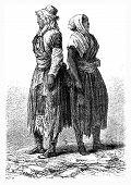 foto of poverty  - Poverty Merthyr Tydfil vintage engraved illustration - JPG