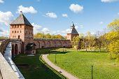 wall of Novgorod Kremlin, Russia