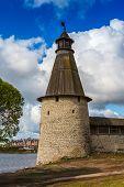 Stone tower and Pskov Kremlin