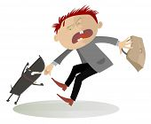 Attention! The aggressive dog