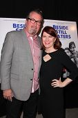 LOS ANGELES - NOV 16:  Chris Haston, Kate Flannery at the