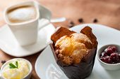 Muffin With Coffee.