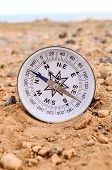 Orientation Concept Metal Compass