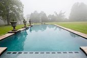 Swimming Pool Mist Countryside