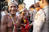 Men In Traditional Cloth From Papua