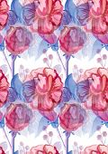 beautiful bright floral seamless pattern