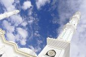 Mosque Minarets Reaching Into The Sky. Islam Concept