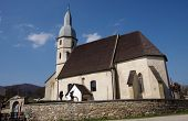 foto of evangelism  - Gothic Evangelical church from the 14th century in Kocelovce near Roznava Slovakia - JPG
