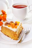 Slice Of Carrot Pie With Icing