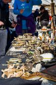 Objects Being Sold On Flea Market.