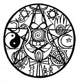 image of hamsa  - Interfaith symbol representing the unity of all religions - JPG